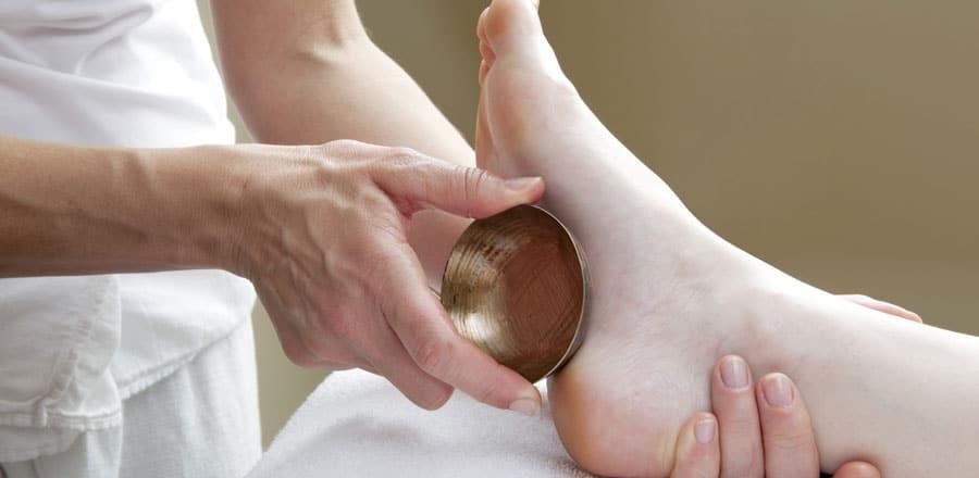 Massage dos et pieds