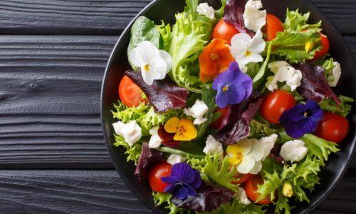 Des fleurs dans l'assiette, c'est joli et c'est bon